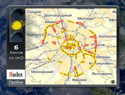 Новый виджет Яндекс.Пробки для автолюбителей