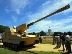 К зданию Конгресса США выкатили самоходную гаубицу будущего