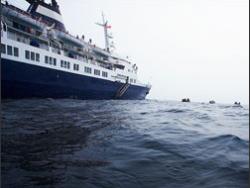 В Эгейском море село на мель круизное судно с 350 пассажирами