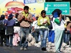Перуанские демонстранты освободили взятых в заложники полицейских