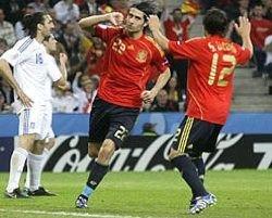 Футбол. Греция — Испания 1:2