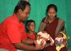 В Индии близнецы родились с разницей в 40 дней