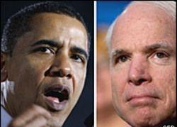 Американцы предпочли Барака Обаму  Джону Маккейну