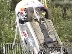 Падение Porsche с 30 метров