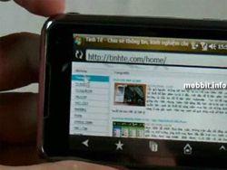 Samsung i900 Omnia – демонстрация работы броузера