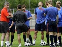 Тренировка сборной России вызвала огромный ажиотаж