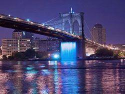 В Нью-Йорке будут запущены искусственные водопады