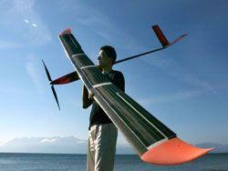 Изобретен летательные аппарат на солнечных батареях
