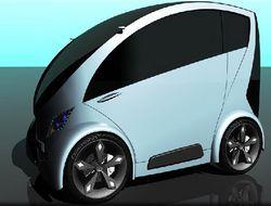 Diamond - небольшой городской автомобиль на батарейках