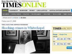The Times представила подборку архивных статей о Джеке Потрошителе