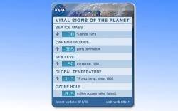 Виджет Global Climate Change следит за измением климата во всем мире
