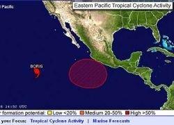 В Тихом океане сформировался первый ураган в этом сезоне