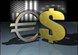 Курс евро укрепляется против доллара
