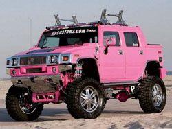 Гламурный розовый Hummer H2