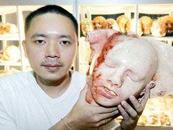 Тайский пекарь продает в своей булочной трупы
