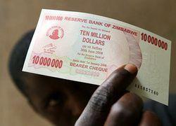 Зимбабве хочет ввести в оборот квадриллионные купюры