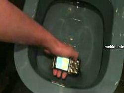 Телефона Sony Ericsson C7: тест под водой