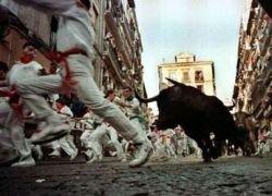 В Испании во время забега быков пострадали девять человек