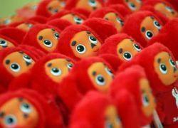Красный Чебурашка стал символом олимпийской сборной России