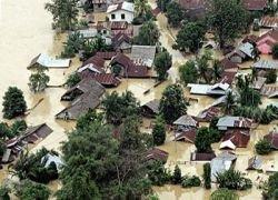 Ливни затопили провинцию в Индонезии