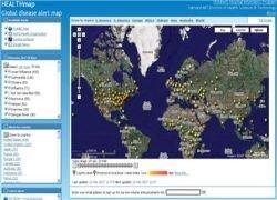 HealthMap фиксирует на карте вспышки болезней и эпидемии