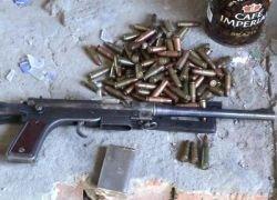 Задержанный в Чечне боевик выдал тайник с оружием