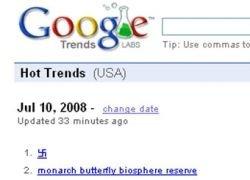 Google сделал веб-тенденцией часа свастику