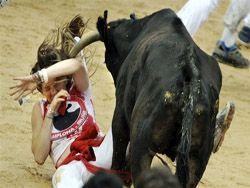Интересные кадры с парада быков в Испании