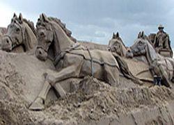 Огромный замок из песка построен в Финляндии