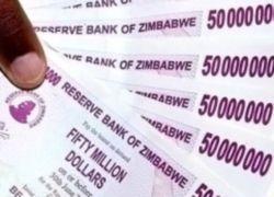 В Зимбабве выпущена купюра в 100 миллиардов долларов