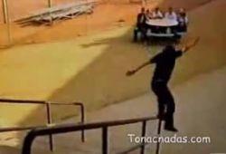 Шоу на невидимых скейтбордах