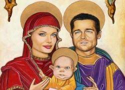Интернет заполонили карикатуры на семейство Джоли-Питт