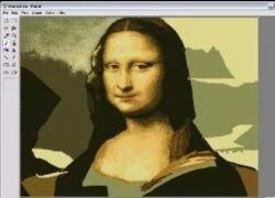 Мона Лиза, нарисованная при помощи Ms Paint