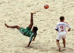 Россия достойно проиграла Бразилии в пляжный футбол