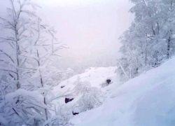 В Черногории выпал снег