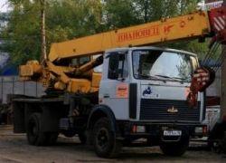 В Москве снова угоняют автокраны