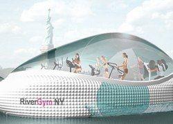 Американский зодчий изобрел плавающий спортзал