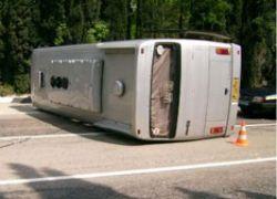 В Пензенской области перевернулся автобус паломников