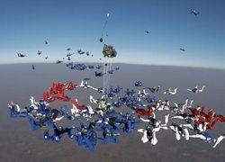 В США поставлен рекорд: ромб из 100 парашютистов