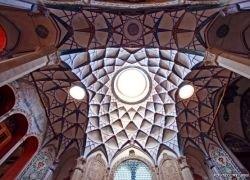 Росписи на куполах мечетей в Иране