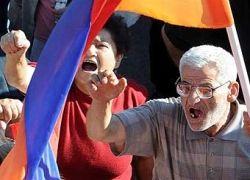Армянская оппозиция вышла на митинг