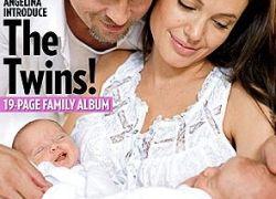 Анджелина Джоли показала близнецов