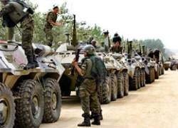 Российская армия вошла в Цхинвали