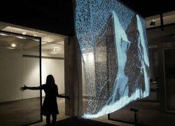 Дизайнер Daniel Rozin создал снежное зеркало