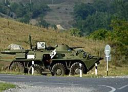 Российская 58-я армия начала обстрел грузинских позиций