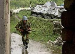 Российские войска занимают Цхинвали