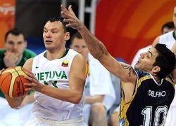 Литовские баскетболисты победили олимпийских чемпионов