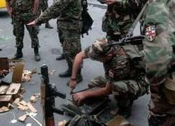 Грузинские войска сдаются в плен