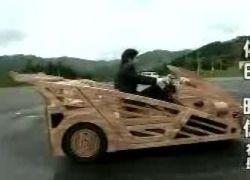 Японские умельцы создали суперкар из дерева
