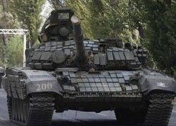 В Гори идут бои с применением танков